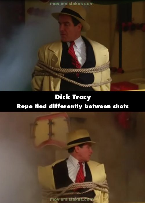 Dick Tracy mistake picture