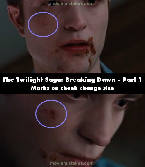 The Twilight Saga: Breaking Dawn - Part 1 mistake picture