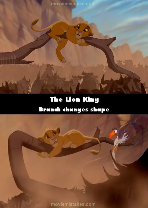 the lion king  1994  movie mistake picture  id 172998