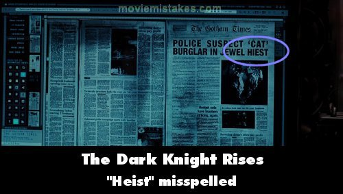 The Dark Knight Rises mistake picture