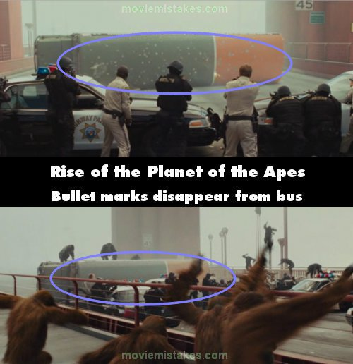 Rise of the Planet of the Apes mistake picture