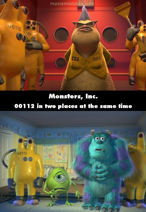 monsters inc movie mistake picture 3
