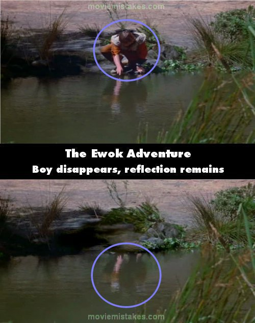 The Ewok Adventure mistake picture