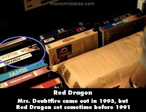 Red Dragon mistake picture