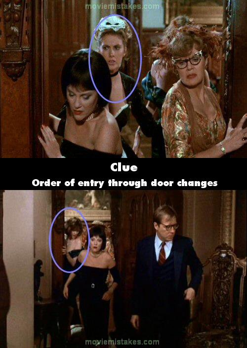 Clue Movie Mistake Picture 7
