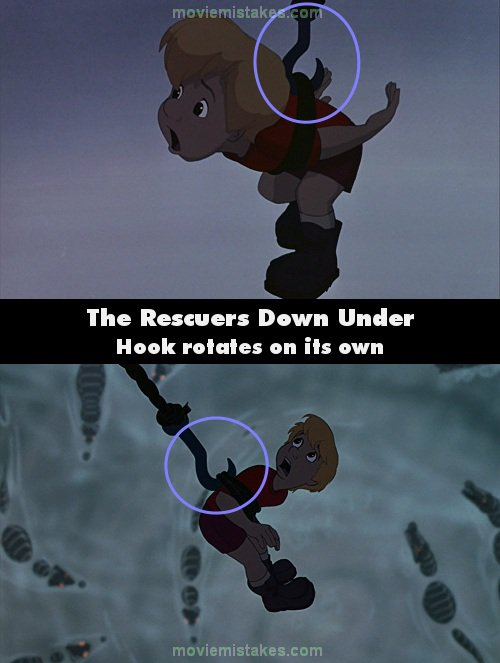 The Rescuers Down Under mistake picture