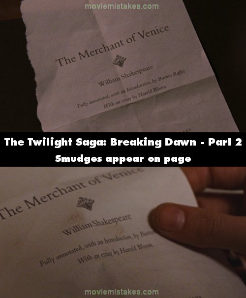 The Twilight Saga: Breaking Dawn - Part 2 mistake picture