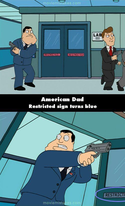 American Dad mistake picture