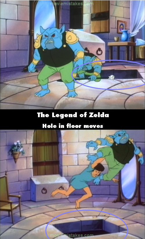 The Legend of Zelda mistake picture
