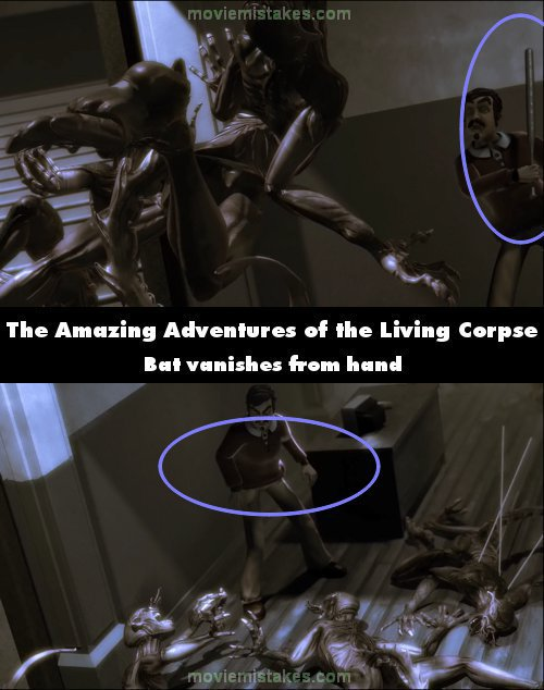 The Amazing Adventures of the Living Corpse mistake picture