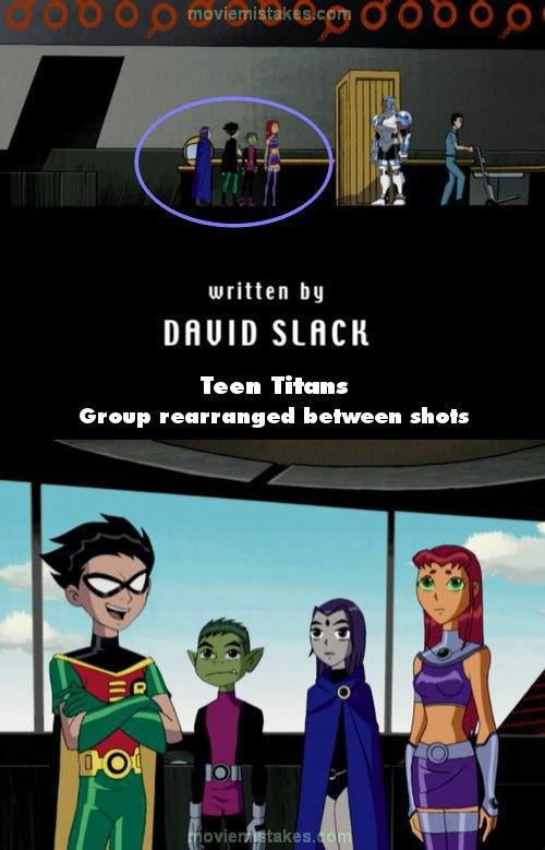 Teen Titans mistake picture