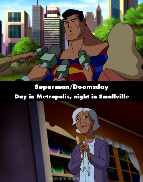 Superman/Doomsday mistake picture