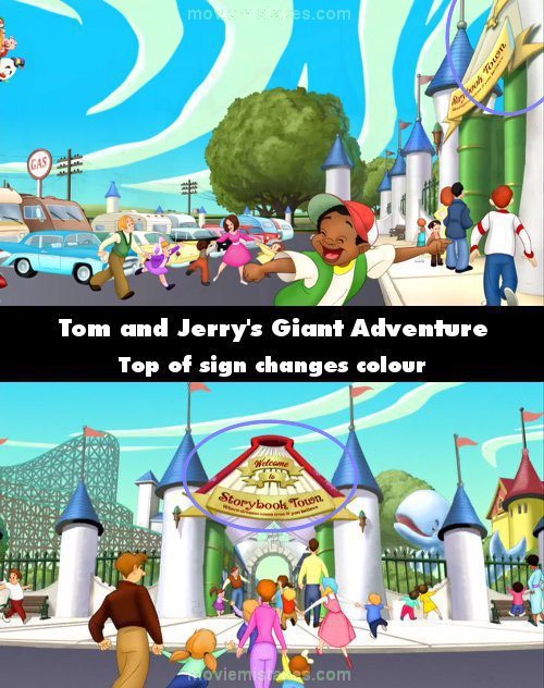Tom and Jerry's Giant Adventure mistake picture