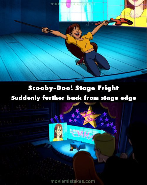 Scooby-Doo! Stage Fright mistake picture