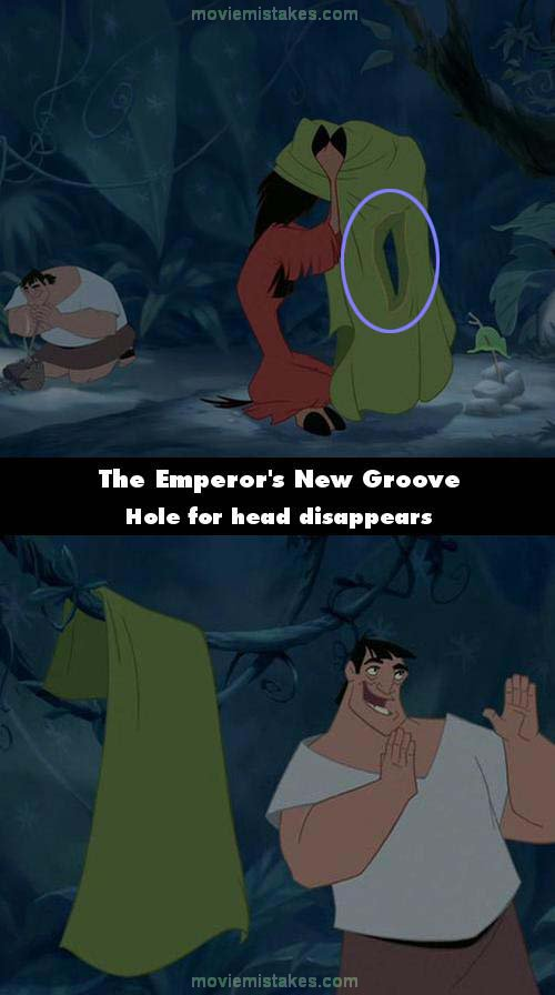 The Emperor's New Groove mistake picture