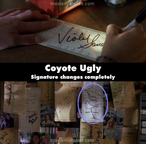 Coyote Ugly mistake picture