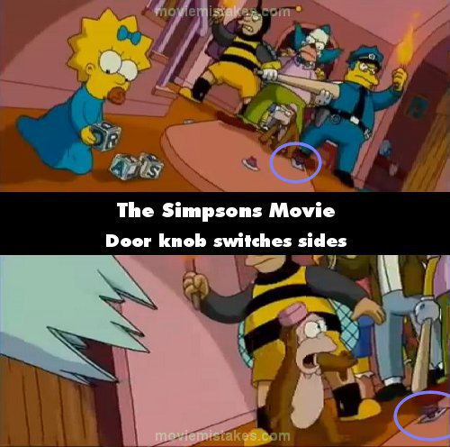 The Simpsons Movie 2007 Movie Mistake Picture Id 196904