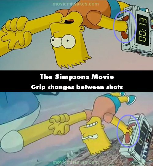The Simpsons Movie mistake picture
