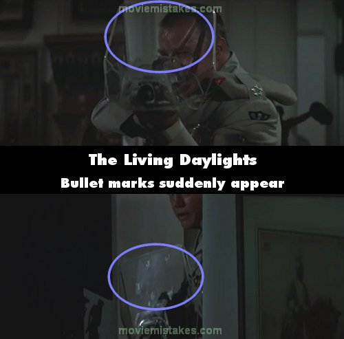The Living Daylights mistake picture