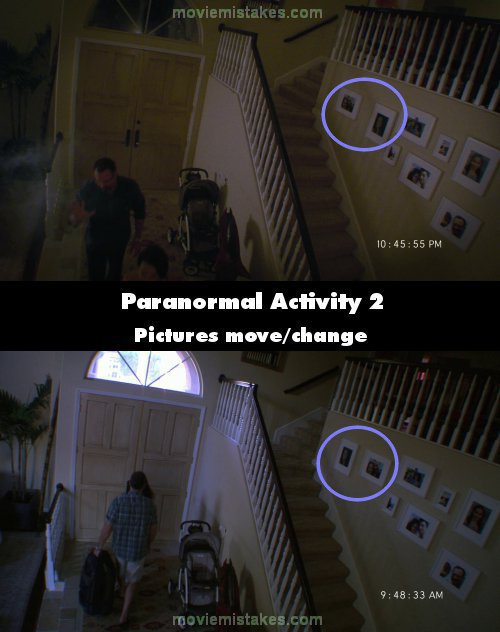 Paranormal Activity 2 mistake picture
