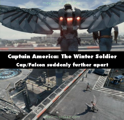 Captain America: The Winter Soldier mistake picture