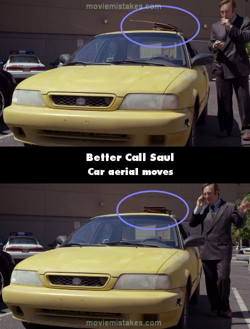 Better Call Saul mistake picture