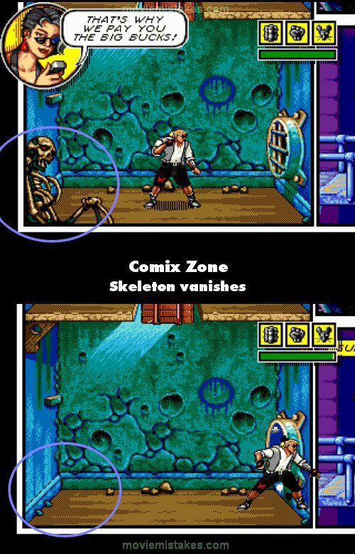 Comix Zone mistake picture