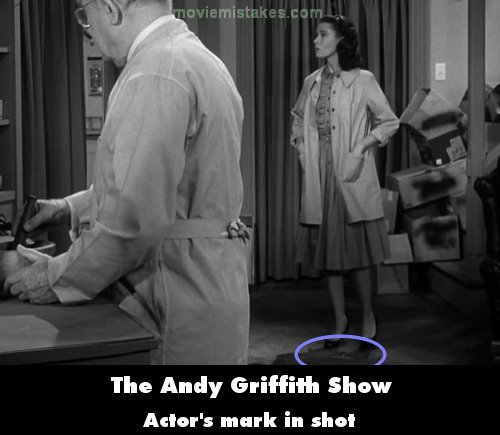 The Andy Griffith Show mistake picture