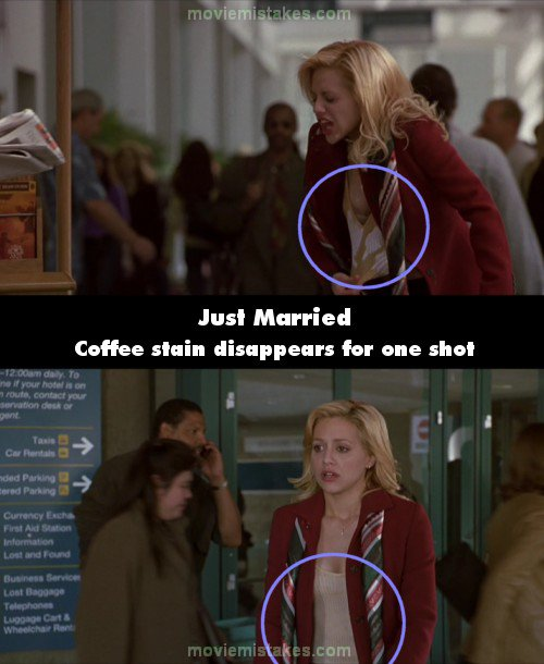 Just Married 60 Movie Mistake Picture ID 60 Inspiration Just Married Quotes