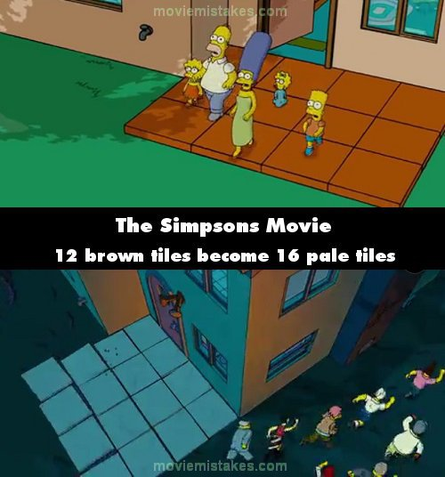 The Simpsons Movie 2007 Movie Mistake Picture Id 219178