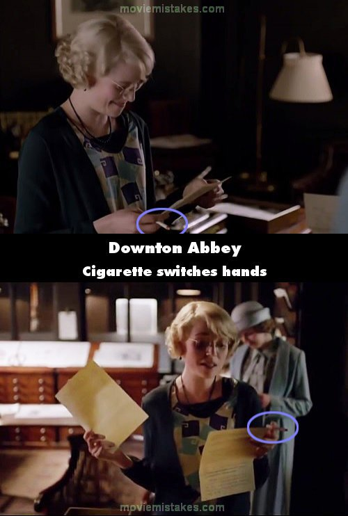 Downton Abbey mistake picture