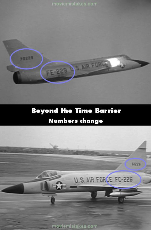 Beyond the Time Barrier mistake picture