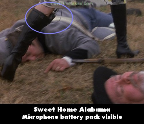 Sweet Home Alabama mistake picture