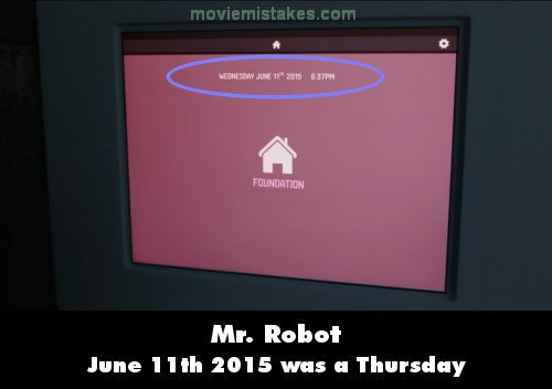 Mr. Robot mistake picture