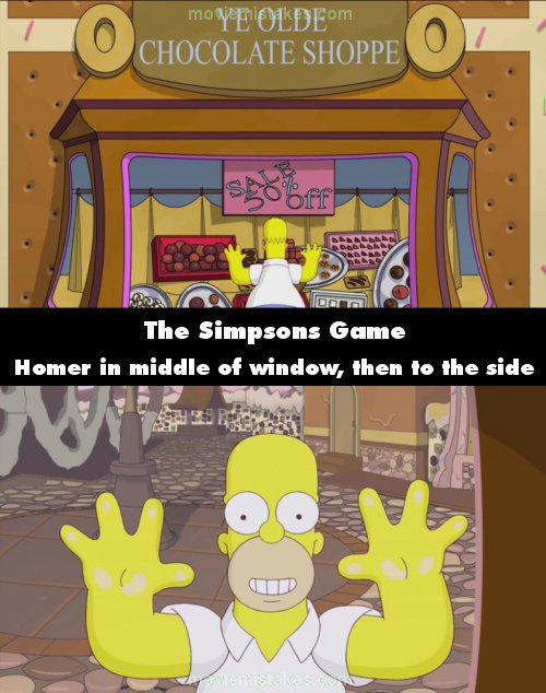 The Simpsons Game mistake picture