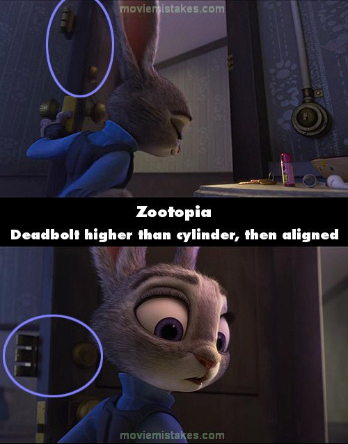 Zootopia movie mistakes, goofs and bloopers