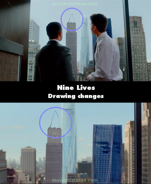 Nine Lives mistake picture