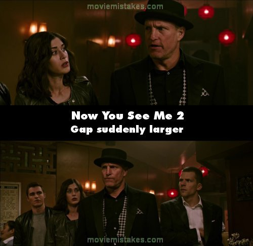 Now You See Me 2 mistake picture