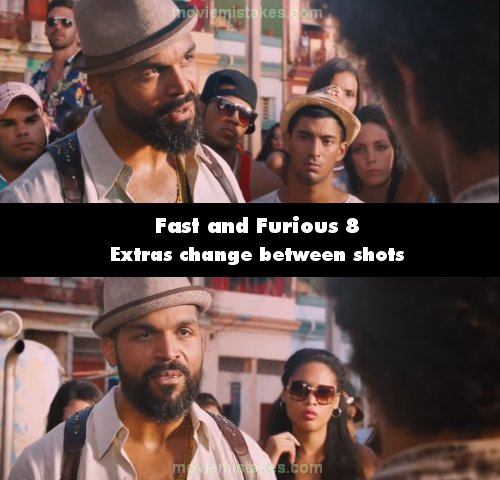 Fast & Furious 8 mistake picture