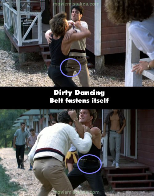 dirty dancing movie mistakes goofs and bloopers