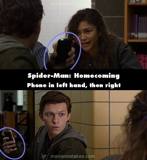 Spider-Man: Homecoming mistake picture