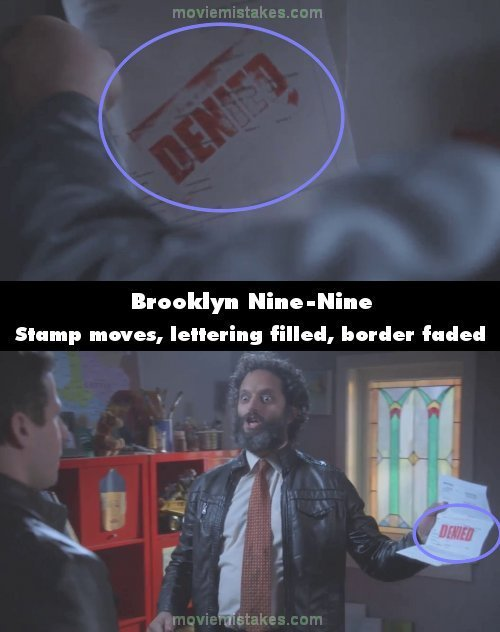 Brooklyn Nine-Nine mistake picture