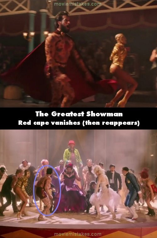 The Greatest Showman mistake picture