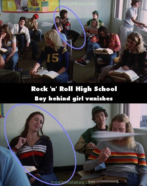 Rock 'n' Roll High School mistake picture