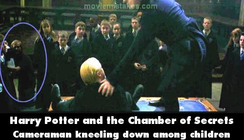 Harry Potter and the Chamber of Secrets mistake picture