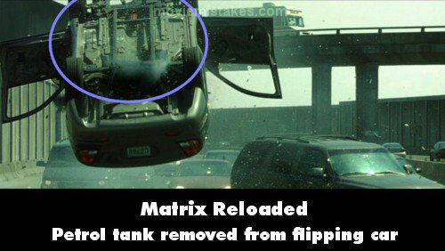 The Matrix Reloaded mistake picture