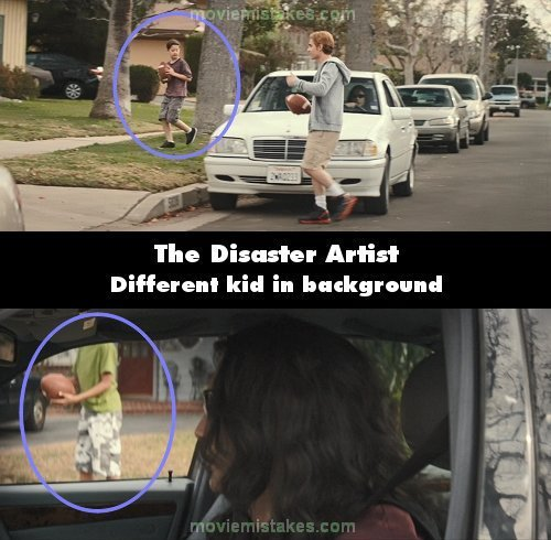 The Disaster Artist mistake picture