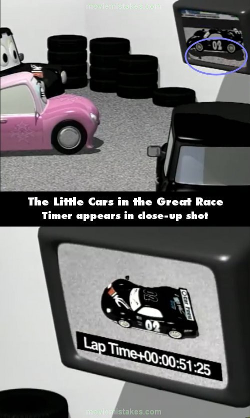 The Little Cars in the Great Race mistake picture
