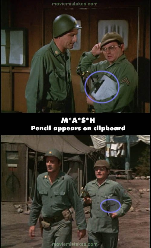 Mash 1972 Tv Mistake Picture Id 29777
