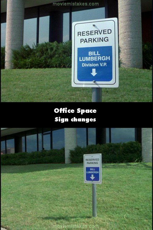 Office Space mistake picture